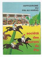 Pub Publicité Hippodrome Du Pin Au Haras Société Des Courses 10x14 Cm Env Feuille Double - Publicités