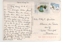 """Timbre , Stamp  Yvert N+ 1551 Oiseau , + Avions """"  Sur CP , Carte , Postcard Du 12/04/1985 - 1910-... République"""