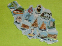 Série Complète De Feves : Carte De Vendée PERSO Sicard - Países