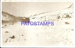106900 ARGENTINA CORDILLERA VISTA PARCIAL SNOW & TRAIN TREN POSTAL POSTCARD - Argentine