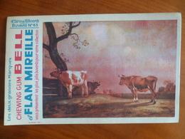 Buvard  Chewing-gum  BELL Et Flan Mireille  N° 63 - Buvards, Protège-cahiers Illustrés