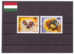 Hongrie 1980 - Oblitéré - Insectes - Fleurs - Michel Nr. 3405-3406 (hun194) - Hungary