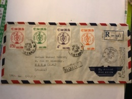 SOUTH VIET NAM - Registered Letter 1963 From SAIGON Air Mail To France - Vietnam