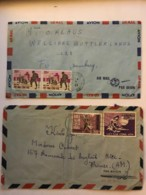 SOUTH VIET NAM - Two Letters 1971 From SAIGON - Air Mail To Germany & France - Viêt-Nam