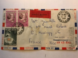 SOUTH VIET NAM - Express Letter 1966 From GIADINH - Air Mail To France - Viêt-Nam