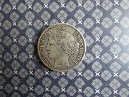 5 FRANCS CERES 1849BB RARE - J. 5 Francs