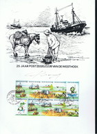 25 JAAR  POSTZEGELCLUB VAN DE WESTHOEK - Erinnerungskarten
