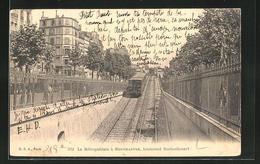 CPA Paris-Montmartre, Boulevard Rochechouart, Metro Wird Zur Hochbahn - Métro Parisien, Gares
