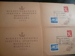 Sport Basket 1955 Polska Games  N° 6 Folders Fine - Francobolli