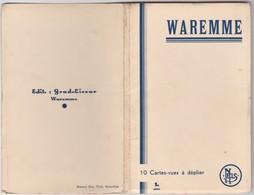 WAREMME-CARNET COMPLET-10 CARTES-GARE+POSTE+RUES+ECOLE+PLACES+......-CARTES VIERGE-VOYEZ LES 7 SCANS-RARE+TOP ! ! ! - Borgworm