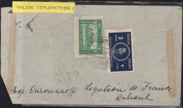 Afghanistan Lettre Valise Diplomatique Pour Ministère Affaires étrangères Réexpédiée Légation France Quito YT 311 299 - Afghanistan