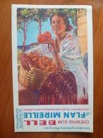 Buvard  Chewing-gum  BELL Et Flan Mireille  N° 76 - Buvards, Protège-cahiers Illustrés