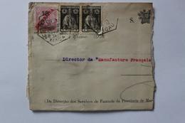 Lettre  De MACAU- Macau à St Etienne E 1923-    ATTENTION LETTRE MAL OUVERTE !!!! - 1912-1949 Republik