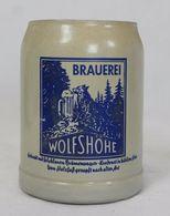 Chope à Bière En Grès - Wolfshöhe Brauerei - Vaisselle, Verres & Couverts