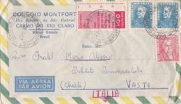 BRESIL  :  Divers Sur Lettre Par Avion Pour L'Italie - Brazilië