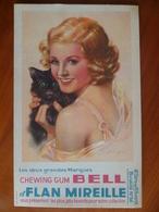 Buvard  Chewing-gum  BELL Et Flan Mireille  N° 86 - Buvards, Protège-cahiers Illustrés
