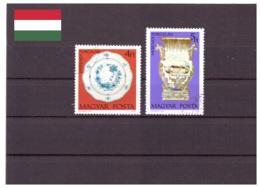 Hongrie 1972 - Oblitéré - Porcelaine - Michel Nr. 2801A-2802A (hun225) - Hungary