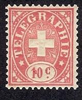 SUISSE  1881 TIMBRE DE TELEGRAPHE   Yv 2 **  ZUM 14 ** - Franchise