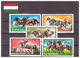 Hongrie 1971 - Oblitéré - Chevaux - Hippisme - Michel Nr. 2703-2707 (hun228) - Hungary