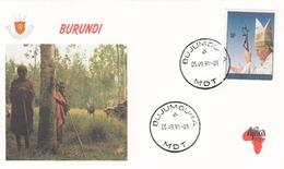 FDC BURUNDI 1715,popes (f) - Burundi