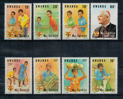 RWANDA     1983   THE  100th ANNIVERSARY  OF  THE  BIRTH OF  CARDINAL CARDIJAN       MNH**   SET X 8 - Rwanda