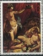 "JACOBO ZUCCHI ""AMOR Y PSIQUIS "" ROMA 1589 ARTE MANIERISTA - PARAGUAY 1977 OBLITERES / USED - LILHU - Arte"