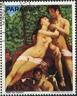 "PIERRE PAUL PRUDHON ""VENUS Y ADONIS"" ARTE ROMANTICISMO - PARAGUAY 1977 OBLITERES / USED - LILHU - Arte"
