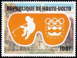 BURKINA FASO (Haute Volta) - Scott #C225 Innsbruck '76 Olympic Games, Ice Hockey / Used Stamp - Winter 1976: Innsbruck