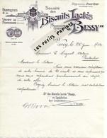"""Suisse - VEVEY - Facture """"BUSSY"""" - Biscuits Lactés - 1912 - REF 274 - Suisse"""