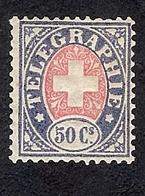 SUISSE  1881 TIMBRE DE TELEGRAPHE   Yv 4 **  ZUM 16 ** - Franchise