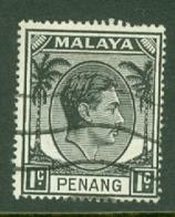 Malaya - Penang: 1949/52   KGVI    SG3    1c    Used - Penang