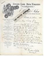 Suisse - BERN - Facture BÜCHI & SOHN - Optiques - 1910 - REF 274 - Suisse
