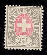SUISSE  1881 TIMBRE DE TELEGRAPHE   Yv 3 NSG  ZUM 15 NSG - Franchise