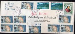 French Polynesia To USA Airmail Cover Pirae, Tahiti Cancel - Polynésie Française