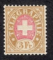 SUISSE  1881 TIMBRE DE TELEGRAPHE   Yv 6 NSG  ZUM 18 NSG - Franchise
