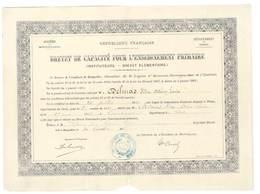 Brevet De Capacité Pour L' Enseignement Primaire (Académie De Montpellier)   (VP 825)) - Diplômes & Bulletins Scolaires