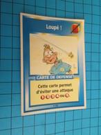"1501-1525 : TRADING CARD 1991 JEU ""CANAILLES"" PANINI / CARTE DE DEFENSE - LOUPé ! - Trading Cards"