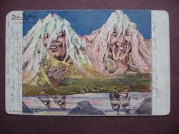 CPA KILLINGER DESSIN ILLUSTRATEUR HANSEN Montagne SUISSE Die Mythen Monts Mythen Voyagée En 1898 Usure Au Dos - Illustrateurs & Photographes