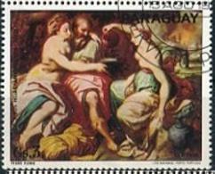 "FRANS FLORIS ""LOT Y SUS HIJAS"" ANIVERES 1516-20/1570 ARTE FLAMENCO - PARAGUAY 1977 OBLITERES / USED - LILHU - Arte"