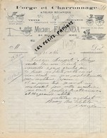 06 - Alpes-maritimes - NICE - Facture FACENDA - Forge Et Charronnage - 1919 - REF 274 - Suisse