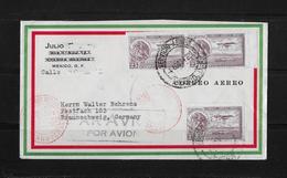 1934 Mexiko Luftpost Brief Nach Braunschweig - Mexique
