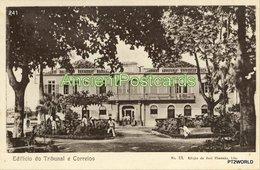 241 Sao Tome And Principe - S. Tomé Edifício Do Tribunal E Correios- Edição De Jose Pimenta, Lda. - Sao Tome Et Principe