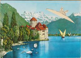 Ovni - Cpm / Soucoupe Volante Dans Le Ciel De Suisse. - Evénements