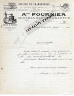 49 - Maine-et-loire - CHATEAUNEUF-SUR-SARTHE - Facture FOURNIER - Atelier De Charronnage - 1914 - REF 274 - Suisse
