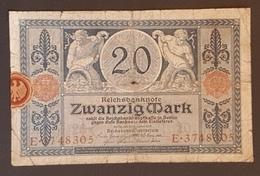 EBN8 - Germany 1915 Banknote 20 Mark Pick 63 WWI - [ 2] 1871-1918 : Duitse Rijk