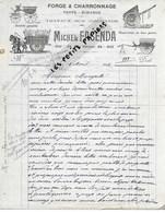 06 - Alpes-maritimes - NICE - Facture FACENDA - Forge Et Charronnage - 1912 - REF 274 - Suisse