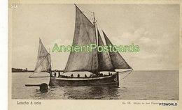 244 Sao Tome And Principe - S. Tomé Lancha A Vela- Edição De Jose Pimenta, Lda. - Sao Tome Et Principe