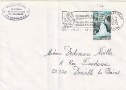 TP N° 1764 Seul Sur Enveloppe De Granville - 1961-....
