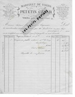39 - Jura - VOGNA - Facture PETETIN - Martinet, Outils De Jardin - 1896 - REF 274 - Suisse