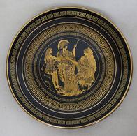 Assiette De Collection Céramique Peinte à La Main Dorée Or 24K - Grèce - Borden